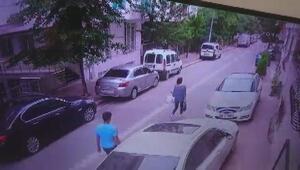Esenyurtta kapkaç kamerada: sokakta yürüyen kadının telefonunu böyle çaldı