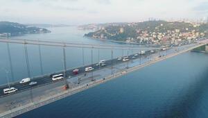 Fatih Sultan Mehmet Köprüsünde çalışmaların durumu görüntülendi