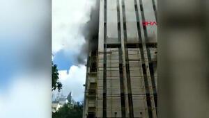Hindistanda telekomünikasyon binasında yangın
