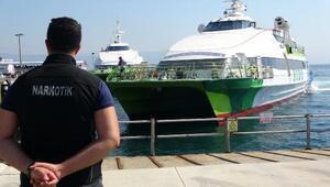 Bursada,deniz otobüsü terminallerinden uyuşturucu uygulaması