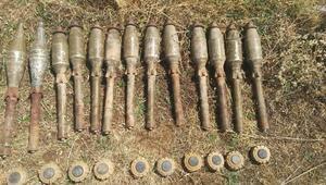 Herekol Dağında PKKnın mayın ve roketleri ele geçirildi