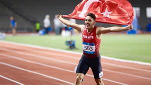 Milli atletimiz altın madalyaya koştu