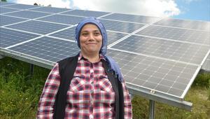 İlçenin elektriği güneş enerjisiyle karşılanıyor