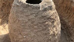 Tarlasını sürerken 200 yıllık tahıl ambarı buldu
