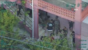 300 polisle şafak operasyonu helikopter kamerasında