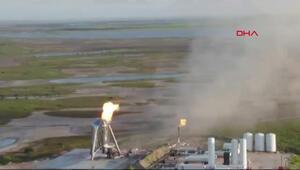 SpaceXin uzay aracı, kalkış öncesi alev aldı