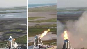 SpaceX'in uzay aracı, kalkış öncesi alev aldı