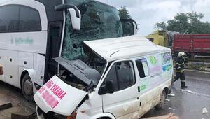 Orduda yolcu otobüsü ile minibüs çarpıştı: Ölü ve yaralılar var
