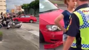 Alkollü kadın sürücü trafiği birbirine kattı