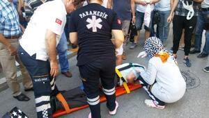 Sabah yürüyüşünde motosiklet çarpmasıyla ağır yaralandı