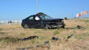 Çanakkalede iki otomobil çarpıştı: 8 yaralı
