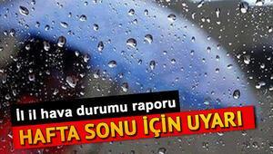 Hafta sonu hava nasıl olacak 27-28 Temmuz hava durumu raporu