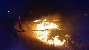 Et ve Süt Kurumu bahçesinde çıkan yangına TOMAlı müdahale