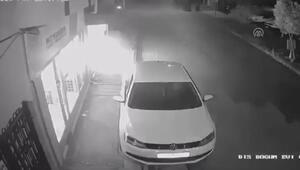 Elektrikli bisikletin patlama anı güvenlik kamerasınca görüntülendi
