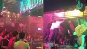 Gece kulübünde feci olay Turnuvaya katılan sporcular vardı tavan çöktü