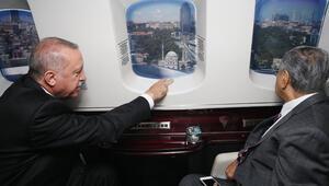 Erdoğan, Malezya Başbakanına İstanbulu havadan tanıttı