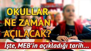 Okullar ne zaman açılacak MEB 2019-2020 eğitim öğretim takvimi