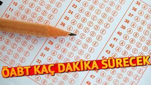 KPSS ÖABT alan sınavı kaç dakika sürecek ÖABT saat kaçta biter