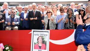İzmirde Işılay Saygın için tören