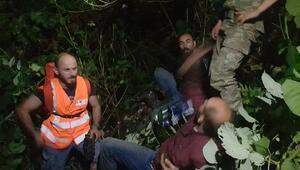 Sınırı kaçak geçerken mahsur kaldı, jandarmadan yardım istedi