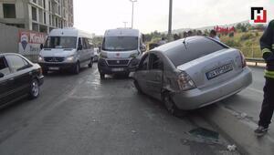 Kartalda zincirleme trafik kazası