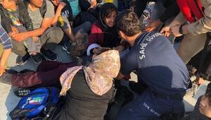 Edirnede lastik botlarda 65 kaçak göçmen yakalandı