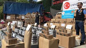 İstanbul merkezli dev operasyon 7 TIR dolusu ele geçirildi...