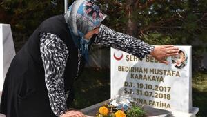 Şehit Nurcan Karakaya ve bebeği Bedirhan Mustafa anıldı