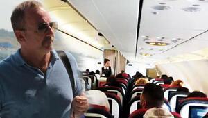 Sergen Yalçına uçakta şaşırtan anons