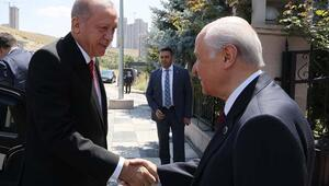 Cumhurbaşkanı Erdoğandan, Bahçeliye ziyaret