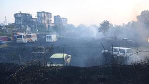 Otluk alanda çıkan yangın, Yediemin Otoparkındaki araçlara sıçradı