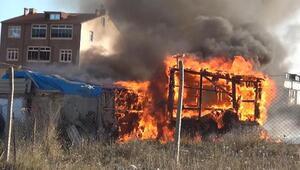 Arnavutköyde baraka alev alev yandı