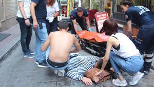 İstanbulda dehşet anları Bıçaklayıp kaçtı...