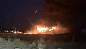 Zeytinyağı fabrikasında korkutan yangın