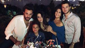 Doğum gününü çocuklarıyla kutladı
