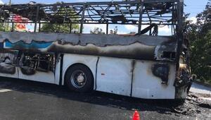 Balıkesirde yolcu otobüsünde yangın çıktı: Ölü ve yarılar var