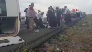 Şiddetli rüzgar diyaliz hastalarını taşıyan minibüsü devirdi, 6 yaralı