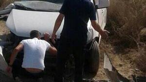 Yolcu treninin çarptığı aracın sürücüsü öldü