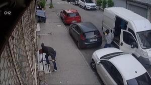 Sultangazide 5 dakikada 200 bin liralık hırsızlık kamerada