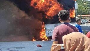 Balıkesirde otobüs yangınında ölenlerin kimlikleri belirlendi
