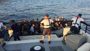 Çeşmede lastik botlarda 75 kaçak göçmen yakalandı