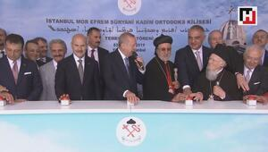 Cumhurbaşkanı Erdoğan, Mor Efrem Süryani Kadim Kilisesinin temel atma törenine katıldı