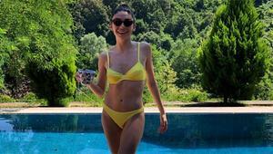 Hazar Ergüçlüden bikinili paylaşım
