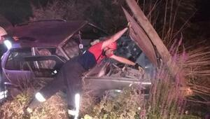 Honazda kaza; motosikletli öldü, otomobil sürücüsü yaralı