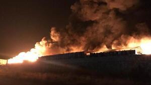 Katı atık bertaraf tesisinde yangın