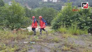 Rizede selde kaybolan 1 kişiyi arama kurtarma çalışmaları sürüyor