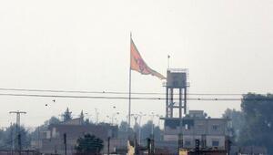 Tel Abyaddaki terör örgütü PYDnin simgeleri indirildi
