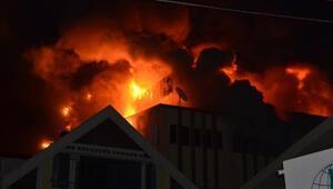 Zonguldakta, fındık kırma fabrikasında yangın