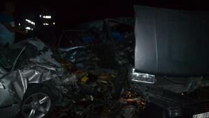 Kahramanmaraşta iki otomobil çarpıştı: 2 yaralı