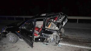 Konyada iki otomobil çarpıştı: 1i bebek 9 yaralı